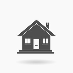 Small Family House Icon Vector Illustration Silhouette.