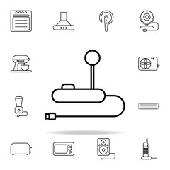 joy stick outline icon. Technology icons universal set for web and mobile