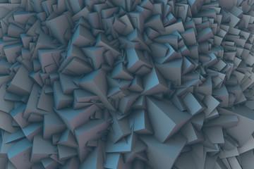 Abstrakte und kubistische 3D-Visualisierung Wall mural