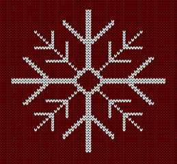 Seamless knit snowflake design