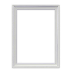 White frame isolated with clipping path