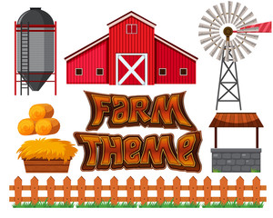 Set of farm scene