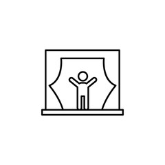 scene icon. Element of video products outline icon for mobile concept and web apps. Thin line scene icon can be used for web and mobile