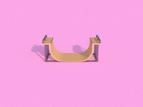 Half-Pipe [Side View] - 3D Render