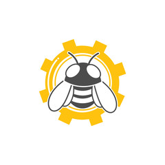 Vector icon and logo with bee as the main theme