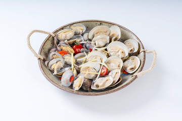 Fresh clam pot