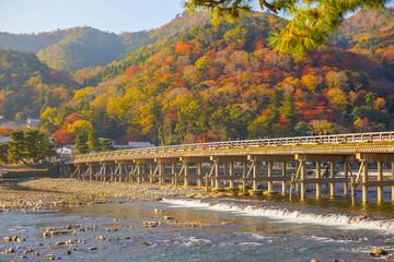 京都 渡月橋の風景