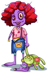 A kid zombie character