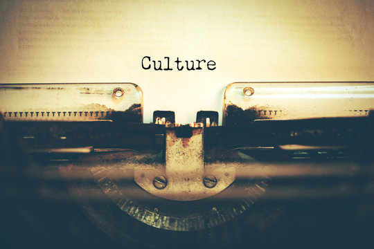 culture with typewriter