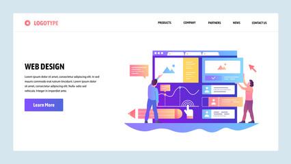 Web site onboarding screens. Team build ux ui interface. Menu vector banner template for website and mobile app development. Modern design linear art flat illustration. Wall mural