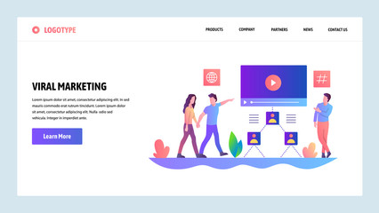 Web site onboarding screens. Digital advertising and online viral marketing. Menu vector banner template for website and mobile app development. Modern design linear art flat illustration.