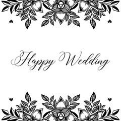 Wedding botanical ornament card with flowers vector art