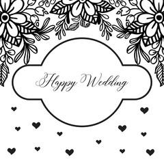 Wedding floral invite invitation card Design with floral vector art