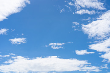 Background of blue sky and cloud.