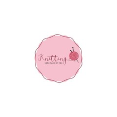 Sewing Stitching Knitting Needle Simple Logo, Sign, Icon Template Vector Design