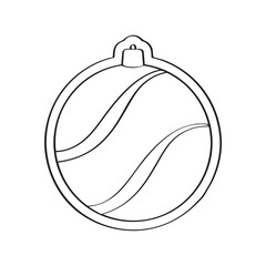 Gingerbread with a christmas ball ornament shape. Vector illustration design
