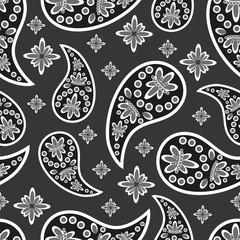 Paisley seamless pattern. Decorative ornament, vector