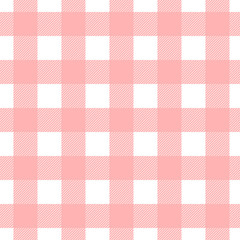 Seamless plaid, check pattern pink and white. Design for wallpaper, fabric, textile, wrapping. Simple background