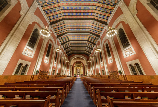 Interiors St. Cecilia Church. St. Cecilia Church is a parish of the Archdiocese of San Francisco.