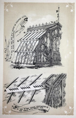Greenhouse retro illustration