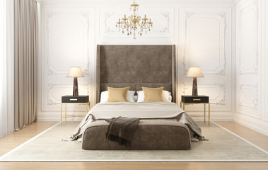 Neoclassical French grande luxury bedroom