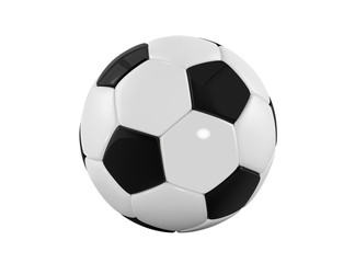 football bal. Realistic soccer ball on white background. 3d Style  sport ball isolated on white background