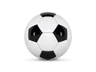 Realistic soccer ball or football ball on white background. 3d Style  Ball isolated on white background