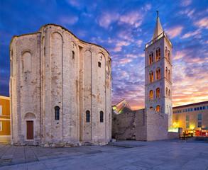 Fototapete - St.Donatus church on the Roma Forum in Zadar. Croatia.