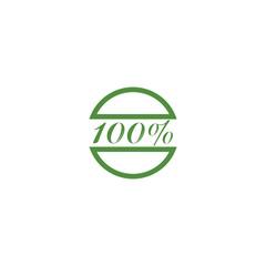 100% NATURE logo design
