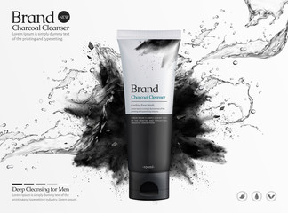 Charcoal cleanser commercial ads Wall mural