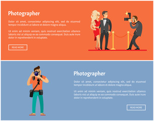 Paparazzi and Photographer Online Banners Set