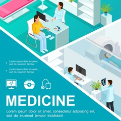 Isometric Healthcare Colorful Concept