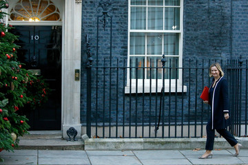 Britain's Secretary of State for Work and Pensions, Amber Rudd arrives in Downing Street, London