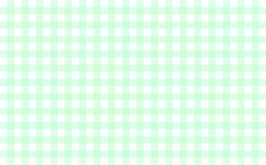 Gingham-like table cloth with mint green and white checks. Symmetrical overlapping stripes in a single solid color against white background, similar to a table or a dish cloth, or a picnic napkin