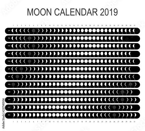 Free Lunar Calendar 2019 Moon calendar 2019