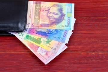 Cape Verdean money in the black wallet