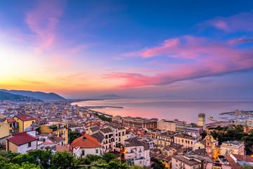 Panorama di Salerno all'alba