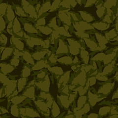 Forest camouflage of various shades of green and brown colors