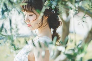 花嫁 Fototapete