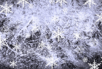 Christmas background and falling snowflake