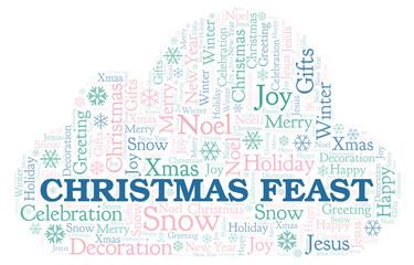 Christmas Feast word cloud.