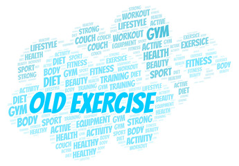 Old Exercise word cloud.