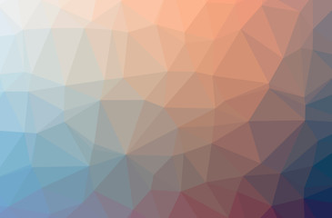 Illustration of abstract low poly orange horizontal background.