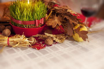 Traditional Christmas offerings on the table