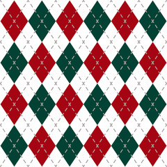 Christmas Check Pattern Image.