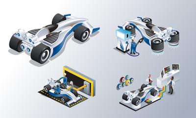 Super future racing car