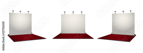 Simple Exhibition Stand : White simple exhibition stand booth design. corporate identity