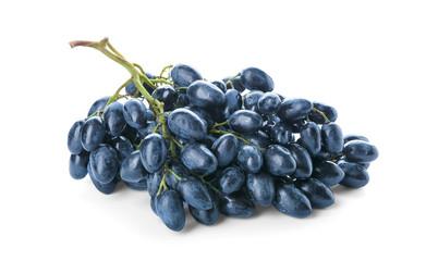 Ripe sweet grapes on white background Fototapete