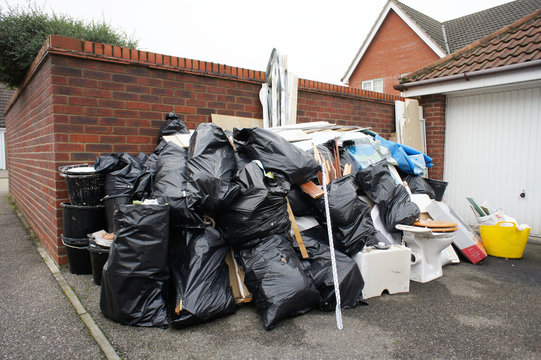 Pile of household waste