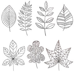 Ink set with leaves